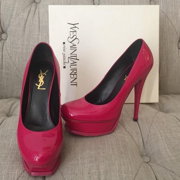 Yves Saint Laurent Shoes - Authentic Yves Saint Laurent Hot Pink Heels